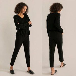 Modern Citizen Robyn Tapered Pants Lounge Black